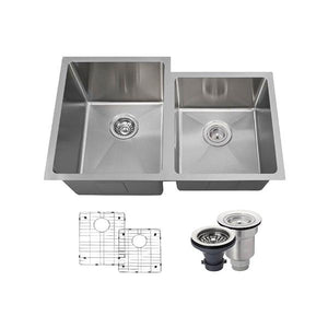 "31"" 18 Gauge Kitchen Ensemble - PL0213-ENS - Manor House Sinks"