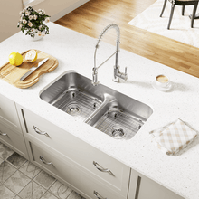 "Load image into Gallery viewer, 32"" 16 Gauge Kitchen Ensemble - P215-16-ENS - Manor House Sinks"