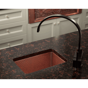 "Polaris 16"" Copper Single Bowl Sink - P509 - Manor House Sinks"