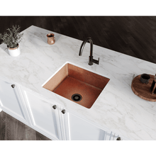 "Load image into Gallery viewer, Polaris 25"" Copper Single Bowl Sink - P409 - Manor House Sinks"