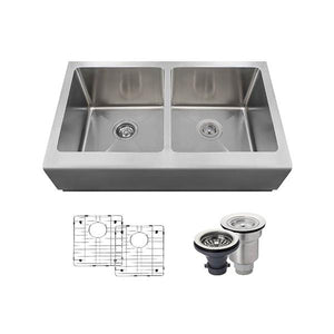 "Polaris 32"" 16 Gauge Kitchen Ensemble - P604-ENS - Manor House Sinks"