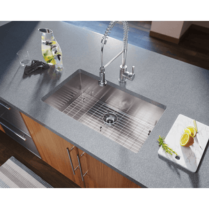 "Polaris 32"" 16 Gauge Kitchen Ensemble - PS2233-ENS - Manor House Sinks"