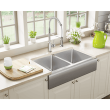 "Load image into Gallery viewer, Polaris 32"" Farmhouse Double Equal Bowl Sink - P604 - Manor House Sinks"