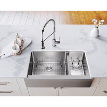 "Load image into Gallery viewer, Polaris 32"" Farmhouse Offset Sink - PL704 - Manor House Sinks"