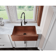 "Load image into Gallery viewer, Polaris 33"" Copper Farmhouse Single Bowl Sink - P319 - Manor House Sinks"