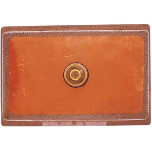 "Polaris 33"" Copper Single Bowl Sink - P309 - Manor House Sinks"