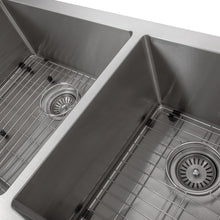 "Load image into Gallery viewer, ZLINE Courchevel Farmhouse 36"" Undermount Double Bowl Sink in Stainless Steel (SA60D-36)"