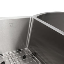 "Load image into Gallery viewer, ZLINE Aspen 33"" Undermount Double Bowl Sink in Stainless Steel (SC30D-33)"