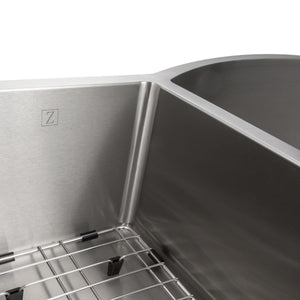 "ZLINE Aspen 33"" Undermount Double Bowl Sink in Stainless Steel (SC30D-33)"