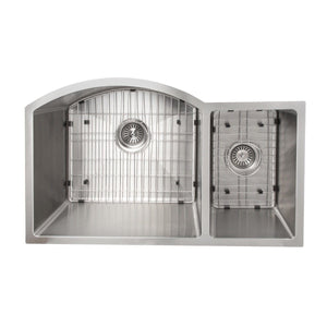 "ZLINE Cortina 33"" Undermount Double Bowl Sink in Stainless Steel (SC70D-33)"