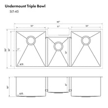 "Load image into Gallery viewer, ZLINE Breckenridge 45"" Undermount Single Bowl Sink in Stainless Steel with Accessories (SLT-45)"