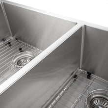 "Load image into Gallery viewer, ZLINE Chamonix 36"" Undermount Double Bowl Sink in Stainless Steel (SR60D-36)"