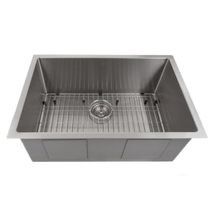 "ZLINE Meribel 27"" Undermount Single Bowl Sink in Stainless Steel (SRS-27)"