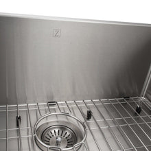 "Load image into Gallery viewer, ZLINE Meribel 27"" Undermount Single Bowl Sink in Stainless Steel (SRS-27)"