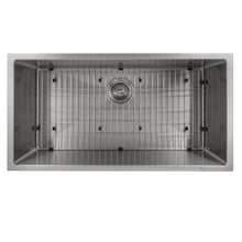 "Load image into Gallery viewer, ZLINE Meribel 36"" Undermount Single Bowl Sink in Stainless Steel (SRS-36)"