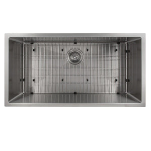 "ZLINE Meribel 36"" Undermount Single Bowl Sink in Stainless Steel (SRS-36)"