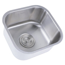 "Load image into Gallery viewer, Nantucket 13.75"" Petite Stainless Steel Undermount Bar/Prep Sink, 16 Gauge - NS21 - Manor House Sinks"