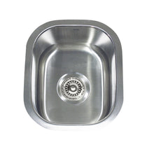 "Load image into Gallery viewer, Nantucket 15"" Rectangle Undermount Stainless Steel Bar/Prep Sink, 18 Gauge - NS1513 - Manor House Sinks"