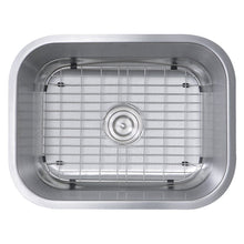 "Load image into Gallery viewer, Nantucket 23"" Small Rectangle Single Bowl Undermount Stainless Steel Kitchen Sink - NS09i-16 - Manor House Sinks"
