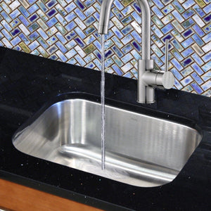 "Nantucket 23"" Small Rectangle Single Bowl Undermount Stainless Steel Kitchen Sink - NS09i-16 - Manor House Sinks"