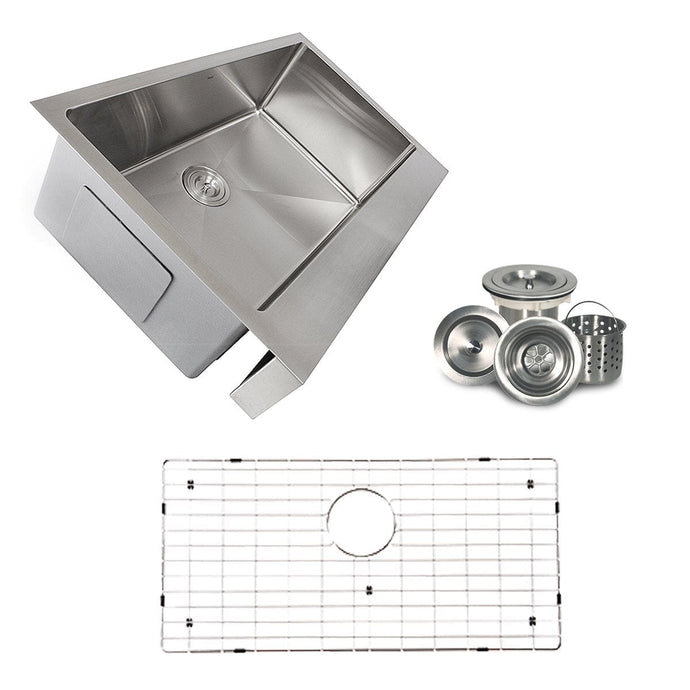 Nantucket  EZApron33-5.5 Patented Design Pro Series Single Bowl Undermount  Stainless Steel Kitchen Sink with 5.5