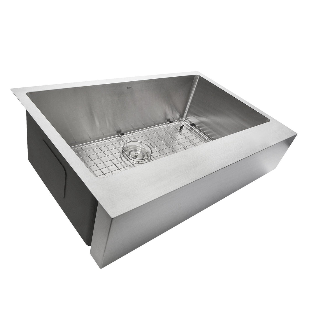Nantucket  EZApron33 Patented Design Pro Series Single Bowl Undermount  Stainless Steel Kitchen Sink with 7
