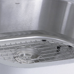 "Nantucket Sconset 23"" D-Bowl Undermount Stainless Steel Kitchen Sink, 16 Gauge - NS03i-16 - Manor House Sinks"
