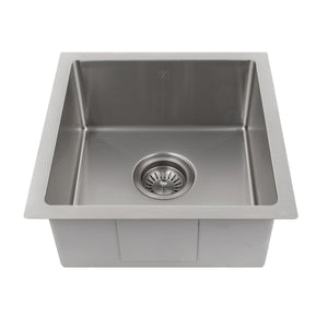 "ZLINE Boreal 15"" Undermount Single Bowl Bar Sink in Stainless Steel (SUS-15)"