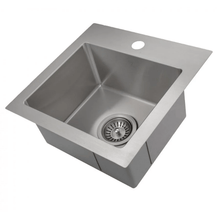 "Load image into Gallery viewer, ZLINE 15"" Stainless Steel Topmount Single Bowl Bar Sink in  STS-15 - Manor House Sinks"