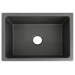 ZLINE Venice Farmhouse Reversible Fireclay Sink in Charcoal (FRC5120-CL-24)