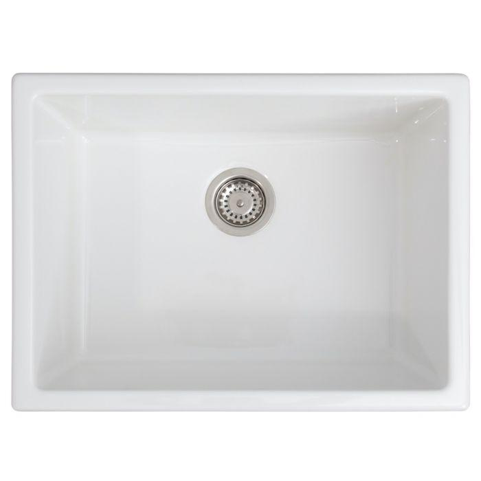 ZLINE Rome Dual Mount Fireclay Sink in White Gloss (FRC5123-WH-24)