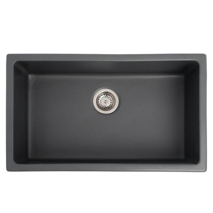 ZLINE Rome Dual Mount Fireclay Sink in Charcoal (FRC5124-CL-30)
