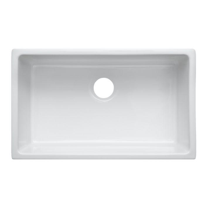 ZLINE Rome Dual Mount Fireclay Sink in White Gloss (FRC5124-WH-30)