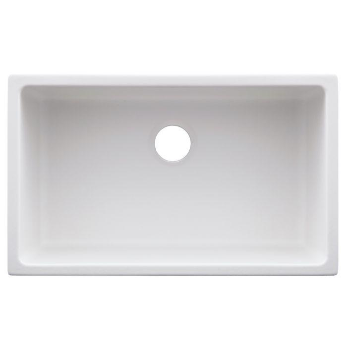 ZLINE Rome Dual Mount Fireclay Sink in White Matte (FRC5124-WM-30)
