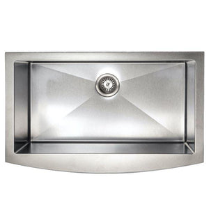 "ZLINE Vail Farmhouse 33"" Undermount Single Bowl Sink in DuraSnow® Stainless Steel (SAS-33S)"