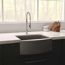 "Load image into Gallery viewer, ZLINE Vail Farmhouse 33"" Undermount Single Bowl Sink in DuraSnow® Stainless Steel (SAS-33S)"