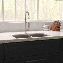 "Load image into Gallery viewer, ZLINE Anton 36"" Undermount Double Bowl Sink in DuraSnow® Stainless Steel (SR50D-36S)"