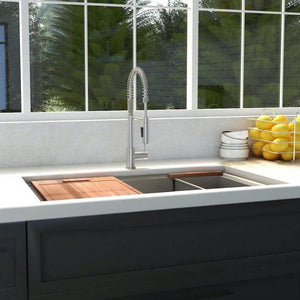 "ZLINE Garmisch 27"" Undermount Single Bowl Sink in Stainless Steel with Accessories (SLS-27)"