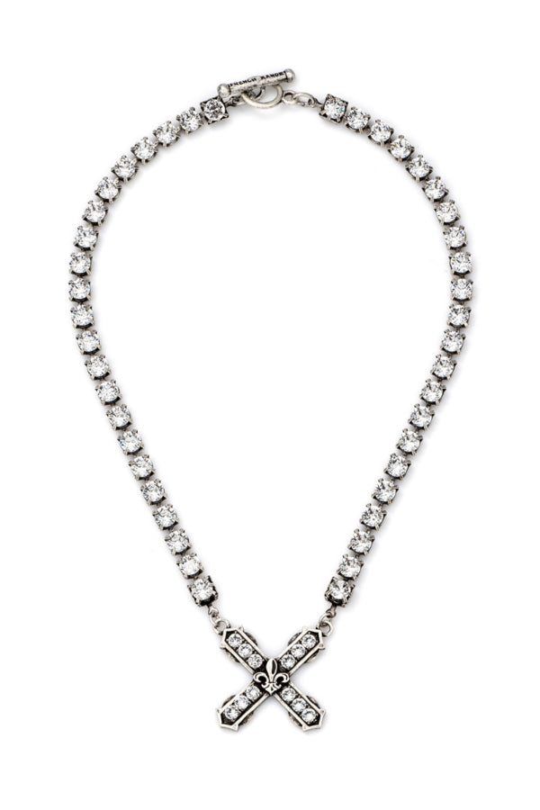 SWAROVSKI WITH SWAROVSKI FRENCH KISS PENDANT