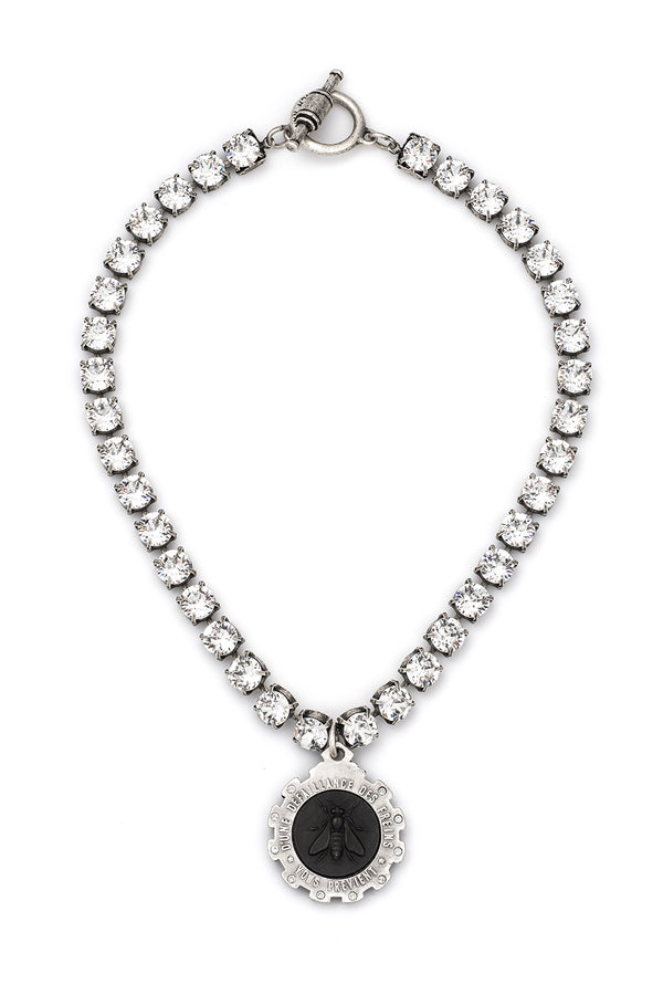 SWAROVSKI WITH BLACK MINI ABEILLE MEDALLION