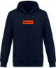Hoodie box logo orange Kutte