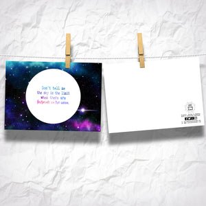 "Footprints on the Moon 5"" x 7"" Oversized Postcards with Kraft Envelopes"