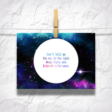 "Load image into Gallery viewer, Footprints on the Moon 5"" x 7"" Oversized Postcards with Kraft Envelopes"