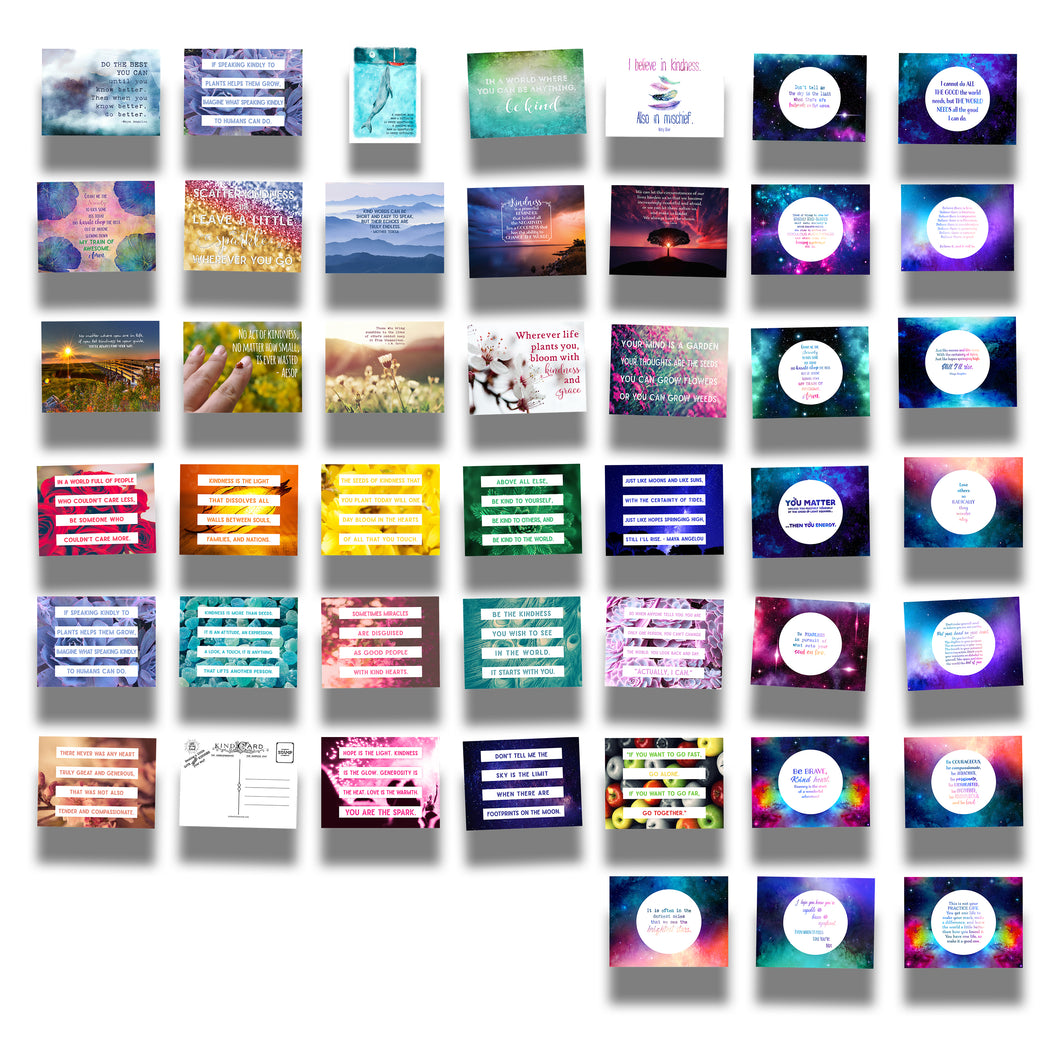 Kind Cards, True Colors Series, and Galaxy Within Us Postcard Bundle Collections