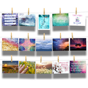 Kind Cards and Encourage Inspire Empower Emerge Postcard Bundle Collections
