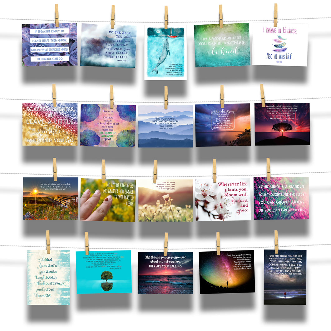 Kind Cards Inspirational 20-Postcard EXPANSION PACK Kindness Collection