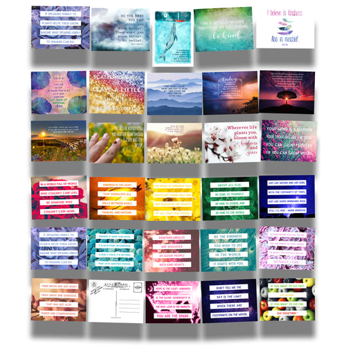 Kind Cards and True Colors Series Postcard Bundle Collection