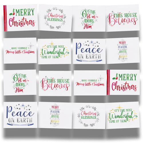Merry Be Your Christmas Traditional Edition 16-Postcard Collection of Holiday Postcards