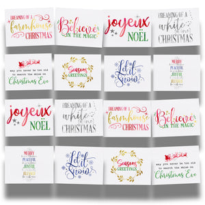 Merry Be Your Christmas Modern Edition 16-Postcard Collection of Holiday Postcards