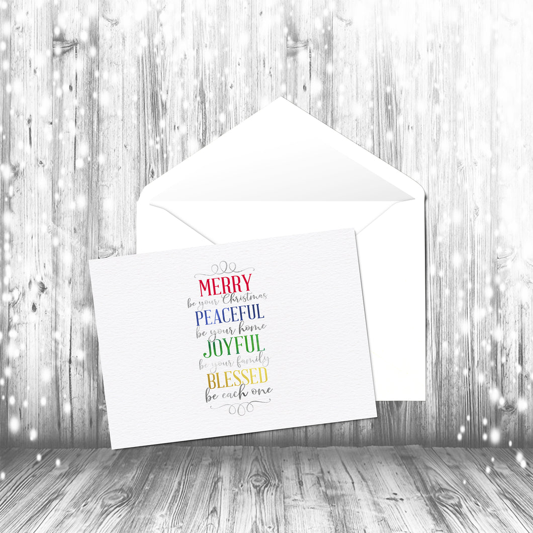 Merry Be Your Christmas Modern Edition Collection of Holiday Cards